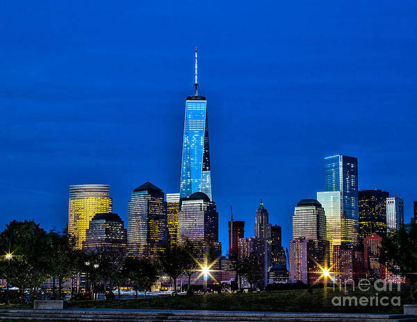Photograph - Nite Time Freedom Tower by Nick Zelinsky