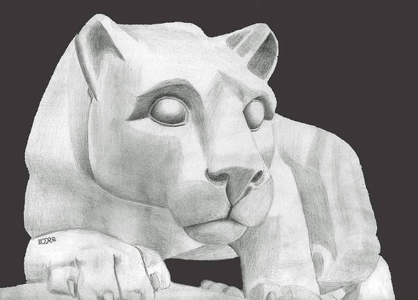 Nittany Lion Statue Art Print