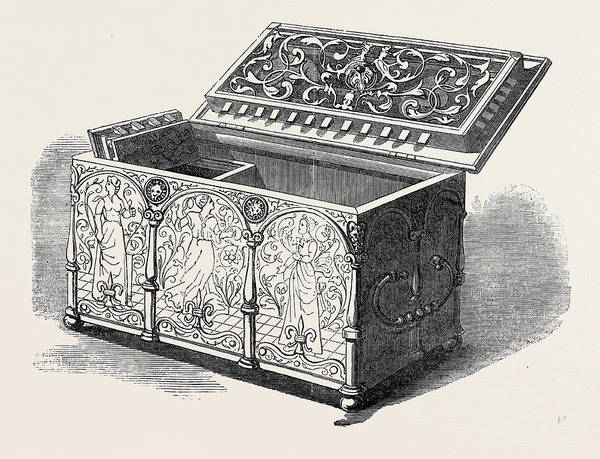 Steel Drawing - No. 165, Engraved Steel Casket, 16th Century by English School