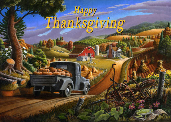 South Alabama Painting - no 17 Happy Thanksgiving by Walt Curlee