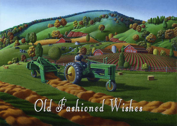 Wall Art - Painting - no 21 Old Fashioned Wishes 5x7 greeting card  by Walt Curlee