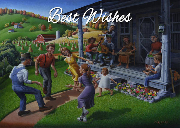 Wall Art - Painting - No 23 Best Wishes Friendship Greeting Card by Walt Curlee