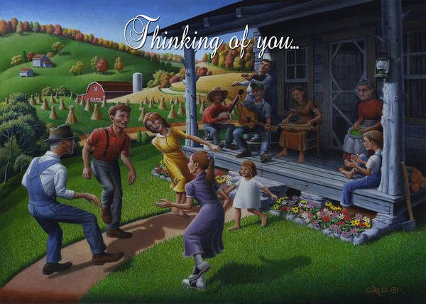Wall Art - Painting - No 23 Thinking Of You Friendship Greeting Card by Walt Curlee