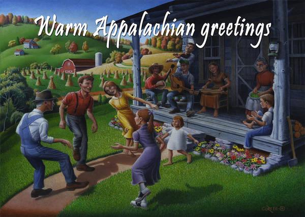 Wall Art - Painting - No 23 Warm Appalachian Greetings Friendship Greeting Card by Walt Curlee