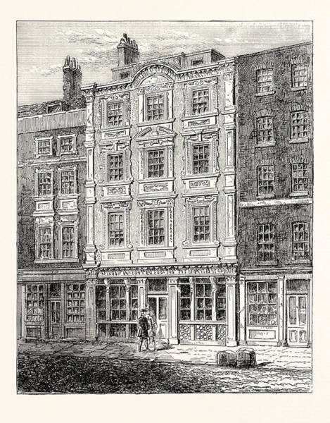 Old Style Drawing - No. 73 Cheapside by English School