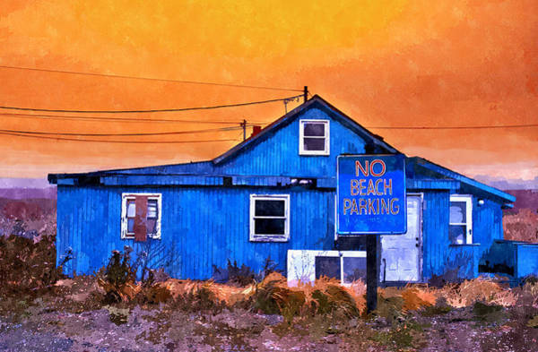 No Beach Parking Art Print