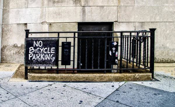 Philadelphia Phillies Digital Art - No Bicycle Parking by Bill Cannon