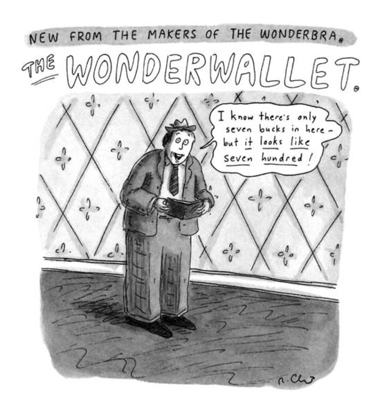 Wallet Wall Art - Drawing - No Caption Title: New From The Makers by Roz Chast