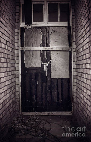 Rusty Chain Wall Art - Photograph - No Entry by Svetlana Sewell
