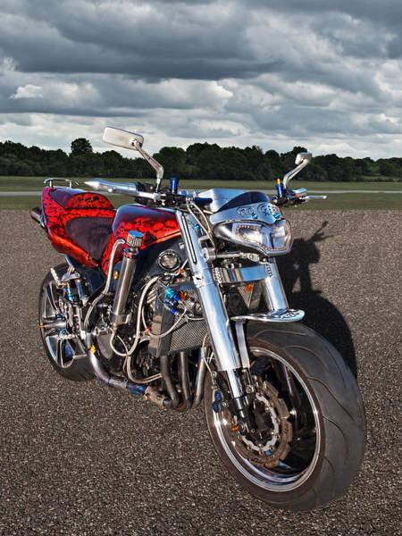Photograph - No Fear - Motorbike by Gill Billington