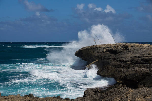 Photograph - No Fishermen - Fun Sport At Laie Point Oahu North Shore Hawaii by Georgia Mizuleva