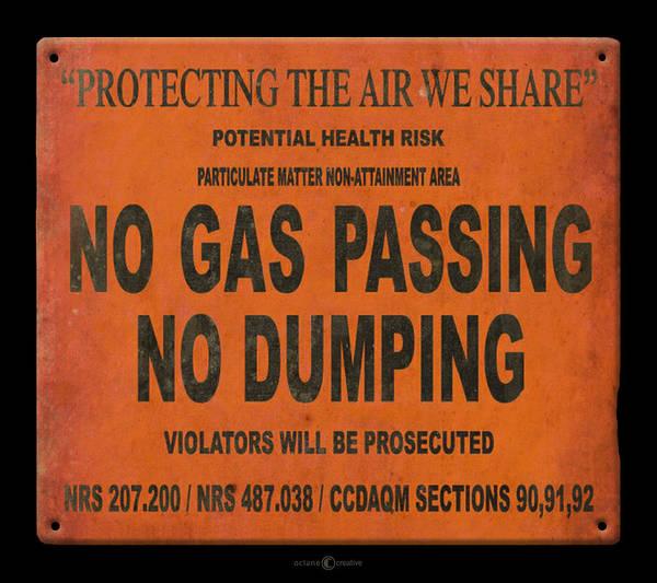 Digital Art - No Gas Passing by Tim Nyberg