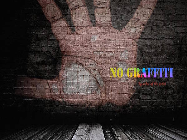 No Graffiti Art Print