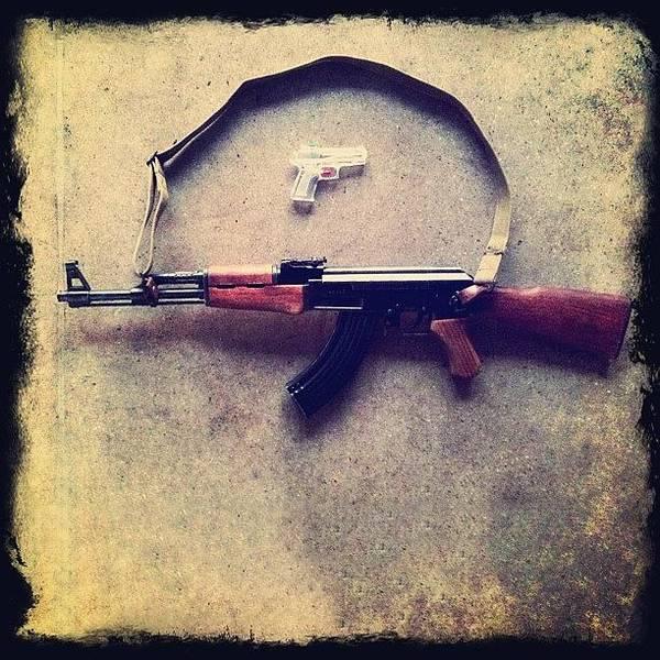 Toy Gun Photograph - No Kiddin' by Esther Montoro