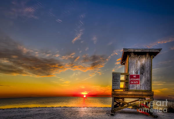 Guard Tower Wall Art - Photograph - No Life Guard On Duty by Marvin Spates