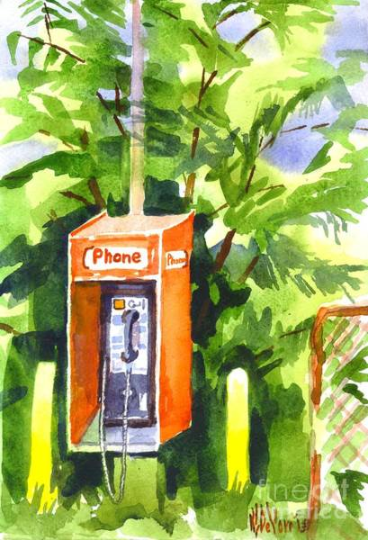 Novelties Painting - No Longer In Service Watercolor  by Kip DeVore