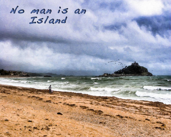 Photograph - No Man Is An Island - St Michael's Mount by Mark Tisdale