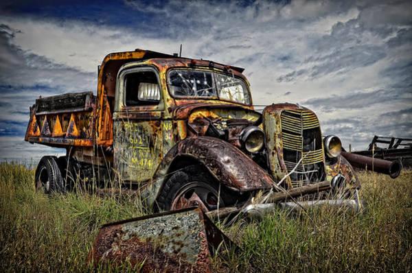 Dump Truck Photograph - No More Loads To Dump by Ken Smith
