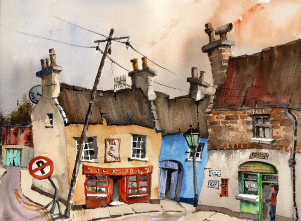 Painting - No Parking Bunratty  Clare by Val Byrne