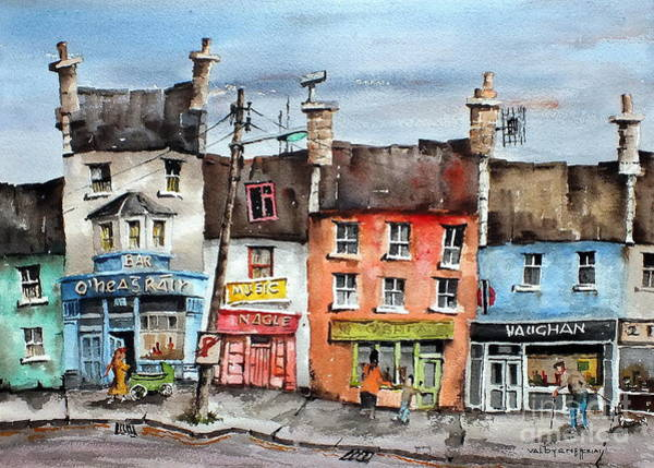 Painting - Clare  No Parking In Ireland by Val Byrne