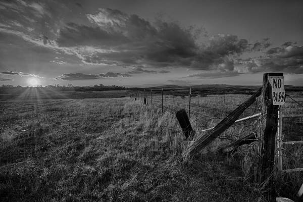 Photograph - No Pass Black And White by Peter Tellone