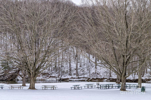 Wall Art - Photograph - Snowy Picnic Ground In Winter by William Kuta