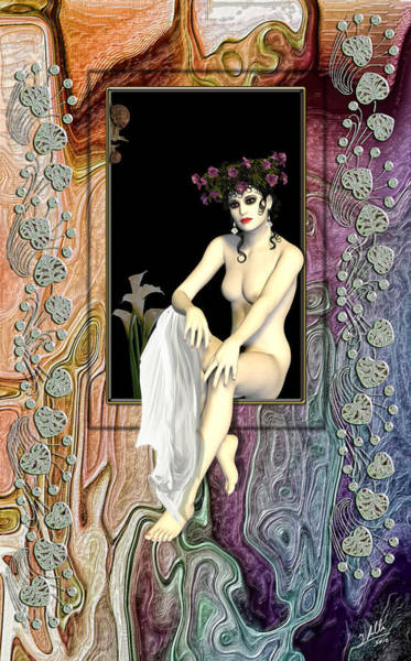 Female Nude Digital Art -  La Lirio by Quim Abella