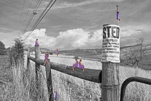Fence Post Digital Art - No Trespassing by Betsy Knapp