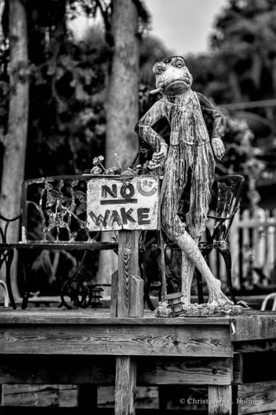 Photograph - No Wake - Bw by Christopher Holmes