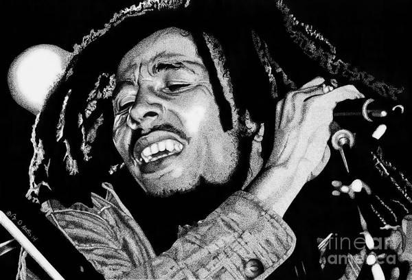 Reggae Wall Art - Drawing - No Woman No Cry by Cory Still