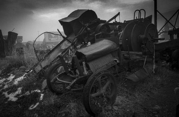 Wrecking Yard Photograph - Retired by Gene Myers