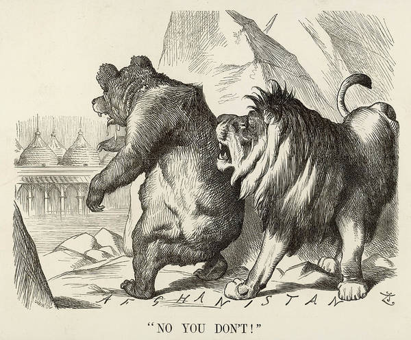 Wall Art - Drawing - 'no You Don't'  The British Lion Warns by Mary Evans Picture Library