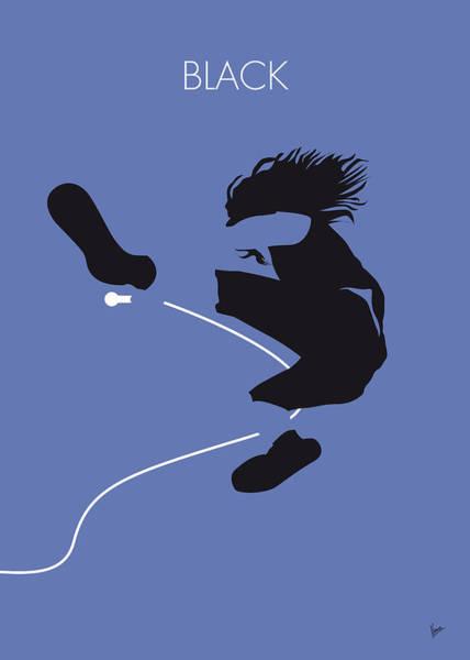 Black Digital Art - No008 My Pearl Jam Minimal Music Poster by Chungkong Art