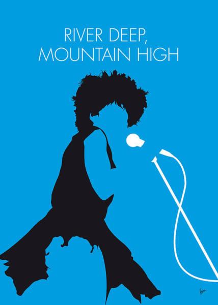 River Digital Art - No019 My Tina Turner Minimal Music Poster by Chungkong Art