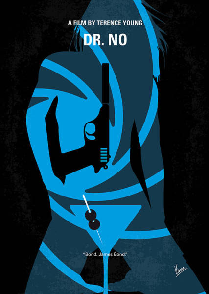 James Wall Art - Digital Art - No024 My Dr No James Bond Minimal Movie Poster by Chungkong Art