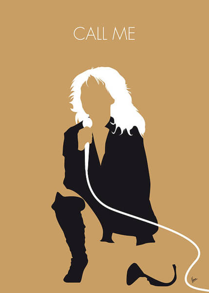 Wall Art - Digital Art - No030 My Blondie Minimal Music Poster by Chungkong Art