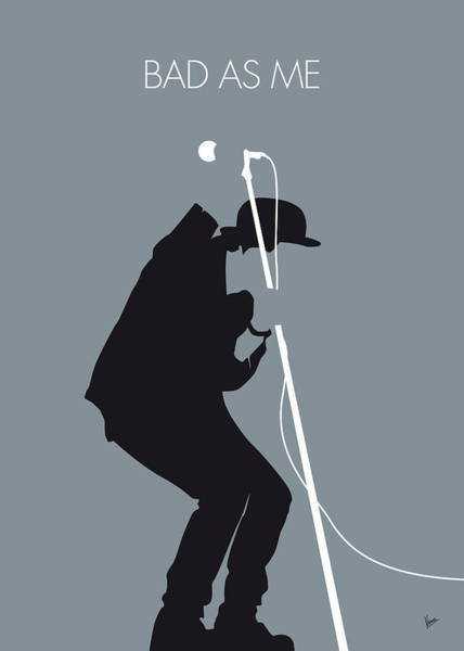 Bad Wall Art - Digital Art - No037 My Tom Waits Minimal Music Poster by Chungkong Art