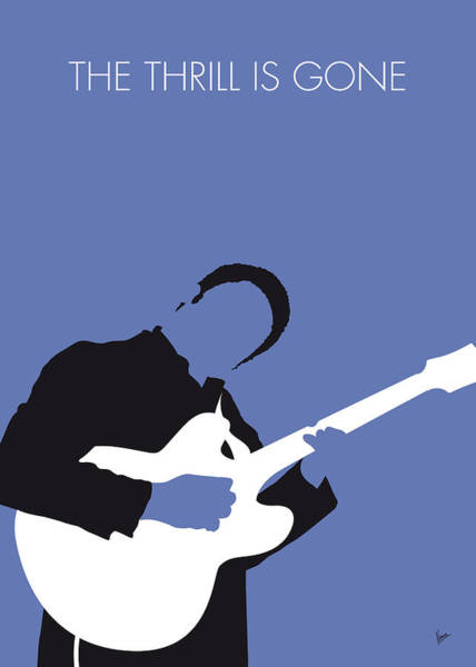 Wall Art - Digital Art - No048 My Bb King Minimal Music Poster by Chungkong Art