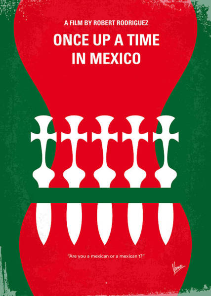 Times Digital Art - No058 My Once Upon A Time In Mexico Minimal Movie Poster by Chungkong Art
