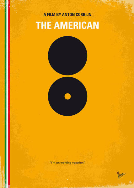 Wall Art - Digital Art - No088 My The American Minimal Movie Poster by Chungkong Art