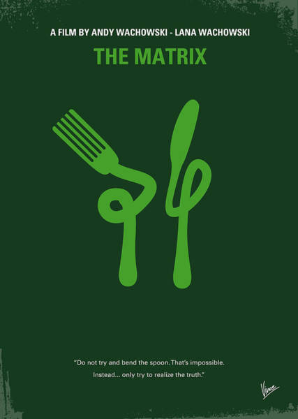 Cinema Digital Art - No093 My The Matrix Minimal Movie Poster by Chungkong Art