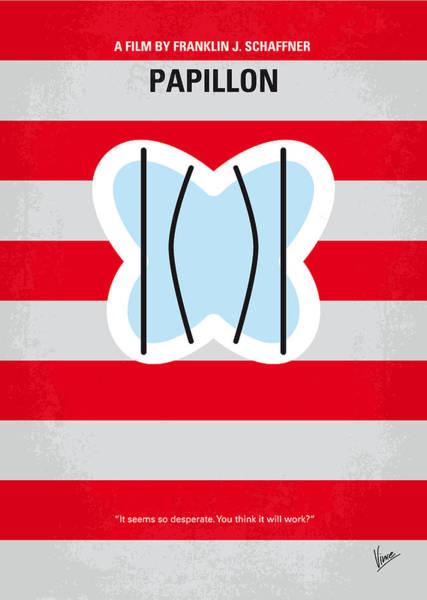 Escape Digital Art - No098 My Papillon Minimal Movie Poster by Chungkong Art