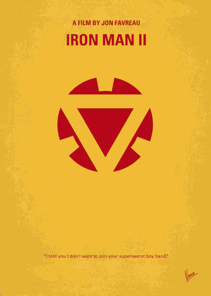 No113 My Iron Man Minimal Movie Posterno113-2 My Iron Man 2 Minimal Movie Poster Art Print