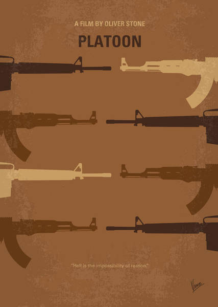 Stone Wall Wall Art - Digital Art - No115 My Platoon Minimal Movie Poster by Chungkong Art