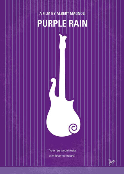 Medieval Wall Art - Digital Art - No124 My Purple Rain Minimal Movie Poster by Chungkong Art