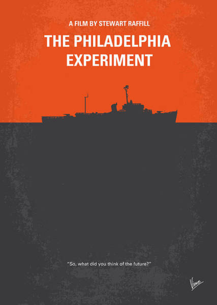 Experimenting Wall Art - Digital Art - No126 My The Philadelphia Experiment Minimal Movie Poster by Chungkong Art