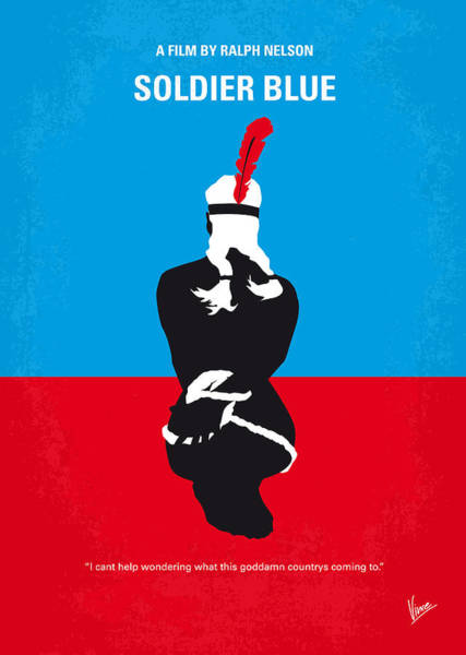 No136 My Soldier Blue Minimal Movie Poster Art Print