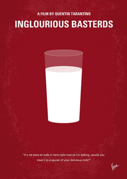 Simple Digital Art - No138 My Inglourious Basterds Minimal Movie Poster by Chungkong Art