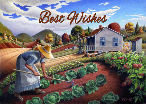 Wall Art - Painting - no13A Best Wishes by Walt Curlee