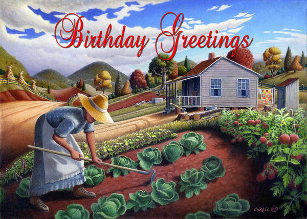 South Alabama Painting - no13A Birthday Greetings by Walt Curlee